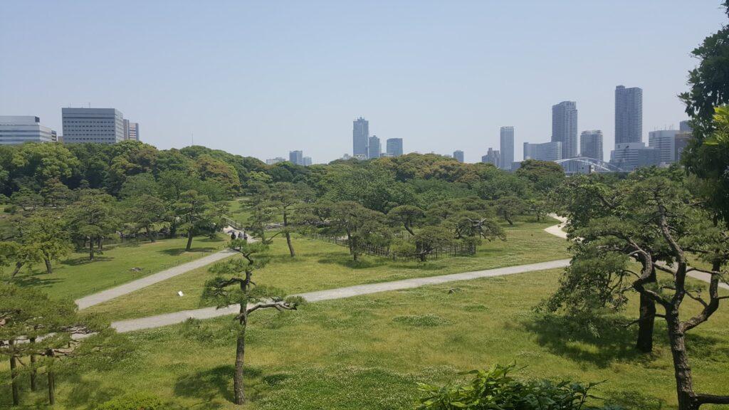 Visuale sui giardini Hamarikyu
