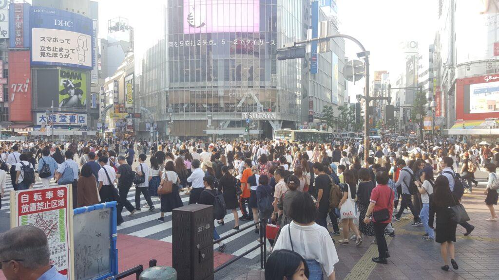 Incrocio di Shibuya a Tokyo