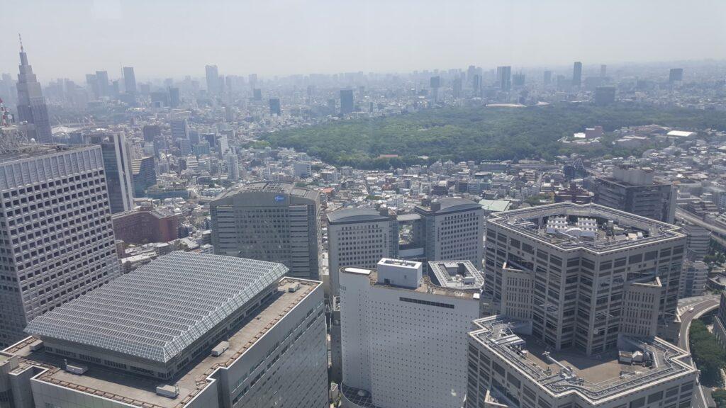 Panorama dal punto di osservazione del palazzo del governo metropolitano di Tokyo