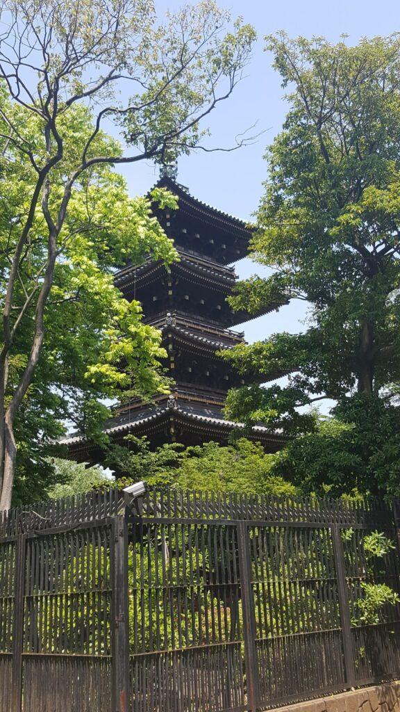 Pagoda al parco Ueno di Tokyo