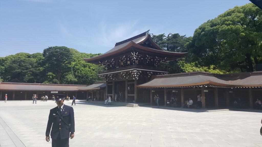 Area centrale del santuario Meiji Jingu di Tokyo