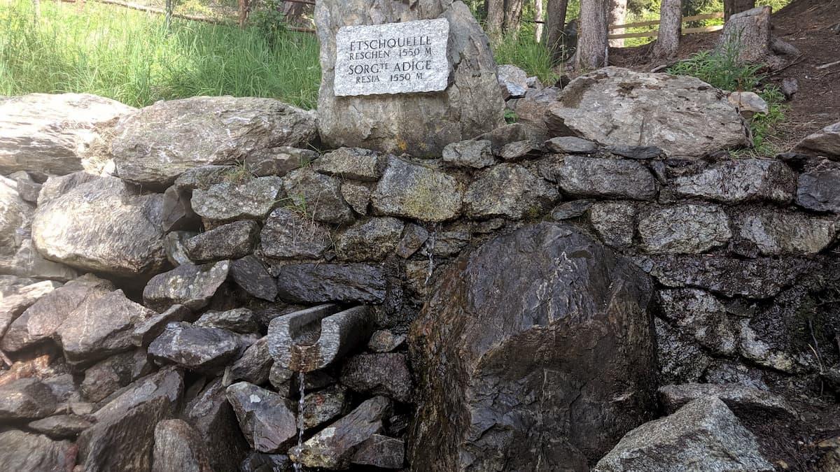 La sorgente dell'Adige